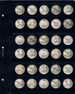 Универсальный лист для монет диаметром 25,5 мм (1 соль) фото
