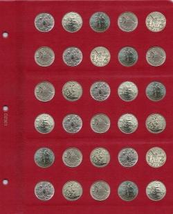 Универсальный лист для монет диаметром 23 мм.  фото