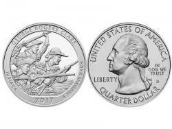 Монета 25 центов 2017 год Национальный исторический парк имени Дж. Р. Кларка - Индиана, UNC фото