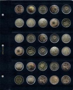 Универсальный лист для памятных монет 2 Евро фото