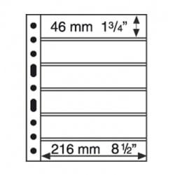 Лист для банкнот GRANDE, 6 ячеек, двусторонний, с черной основой фото