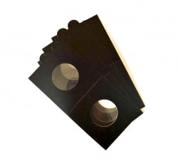 Холдеры для монет самоклеющиеся (цвет черный) фото