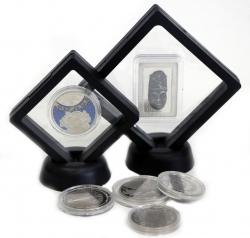 Футляр-рамка для презентации монет с подставкой(90х90 мм.) фото