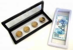Дисплей для монет с подставкой(230х90 мм.) фото