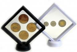 Рамка для монет с подставкой(110х110 мм.) фото