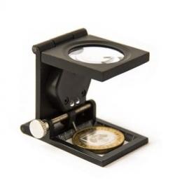 Лупа для монет, настольная с подсветкой фото