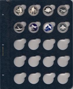 Лист для монет в капсулах диаметром 32 мм (синий) фото