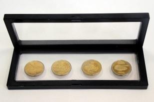 Дисплей для монет с подставкой(230х90 мм.) / страница 1 фото