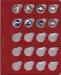 Лист для монет в капсулах диаметром 31 мм (красный)