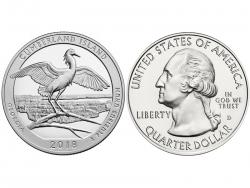 Монета 25 центов 2018 год Национальное побережье острова Кумберленд - Джорджия, UNC фото