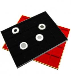 Планшет в деревянной раме для 24 монет фото
