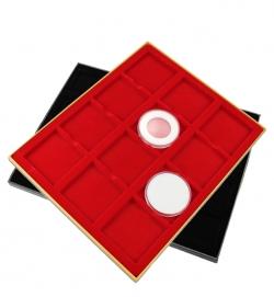 Планшет в деревянной раме для 12 монет фото