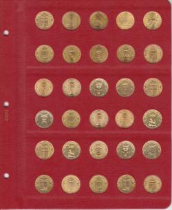 Универсальный лист для гальванических монет диаметром 22 мм фото