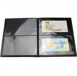 Альбом-кляссер для хранения почтовых марок (10 двусторонних листов с 2 ячейками) фото