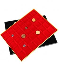 Планшет в деревянной раме для 35 монет фото
