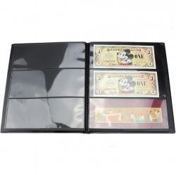 Альбом-кляссер для хранения почтовых марок (10 двусторонних листов с 3 ячейками) фото
