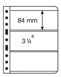 Лист для банкнот VARIO, 3 ячейки, прозрачный фото