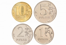 Набор регулярных монет РФ 2016 год (4 монеты), UNC фото