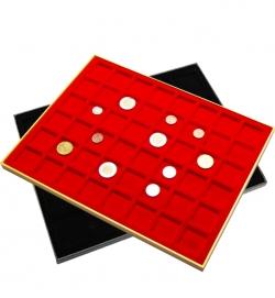 Планшет в деревянной раме для 48 монет фото