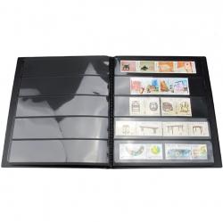 Альбом-кляссер для хранения почтовых марок (10 двусторонних листов с 5 ячейками) фото