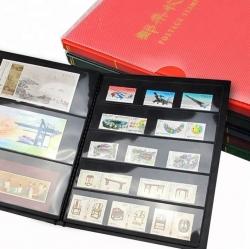 Альбом для почтовых марок (10 чёрных двусторонних листов на 1, 2, 3 и 5 ячеек) фото