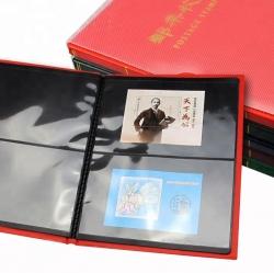 Альбом для почтовых марок (10 чёрных двусторонних листов на 2 ячейки) фото