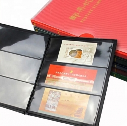 Альбом для почтовых марок (10 чёрных двусторонних листов на 3 ячейки) фото