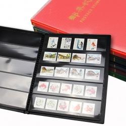 Альбом для почтовых марок (10 чёрных двусторонних листов на 5 ячеек) фото