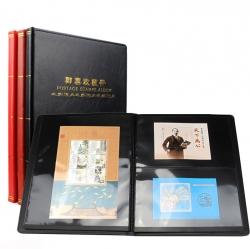 Альбом для хранения марок (10 чёрных двусторонних листов на 1, 2, 3 и 5 клеммташе) фото