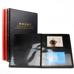 Альбом для хранения марок (10 чёрных двусторонних листов на 2 клеммташе) фото