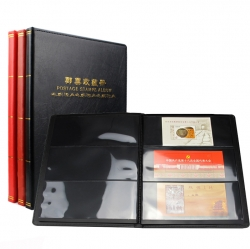 Альбом для хранения марок (10 чёрных двусторонних листов на 3 клеммташе) фото