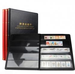 Альбом для хранения марок (10 чёрных двусторонних листов на 5 клеммташе) фото