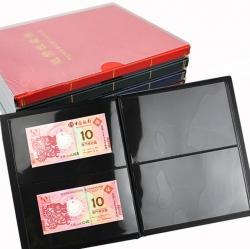 Альбом для хранения банкнот (10 чёрных двусторонних листов с 2 ячейками) фото