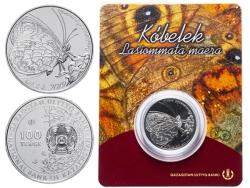 Монета 100 Тенге Буроглазка большая 2019 год (в буклете) фото