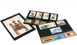 Карточки-кулисы для марок, чёрные фото