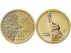 Монета 1 доллар 2019 год Классификация звезд, Энни Кэннон, UNC фото