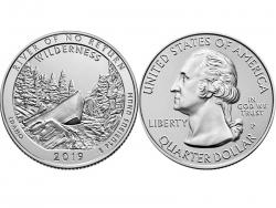 Монета 25 центов 2019 год Дикая местность - Река Фрэнк Черч, UNC фото