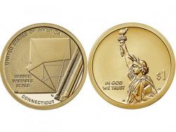 Монета 1 доллар 2020 год Шкала переменных Гербера, UNC фото