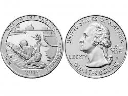 Монета 25 центов 2019 год Национальный исторический парк Война на Тихом океане - Гуам, UNC фото