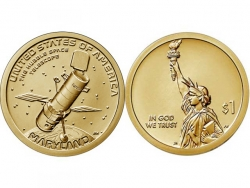 Монета 1 доллар 2020 Космический телескоп