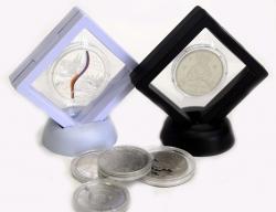 Футляр для монет с подставкой (70х70 мм) фото