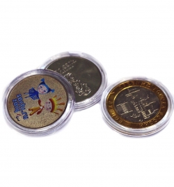 Капсулы для монет 27 мм под 10 и 25 рублей фото