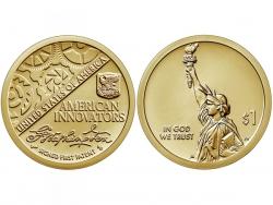 Монета 1 доллар 2018 год Американские инновации, UNC фото