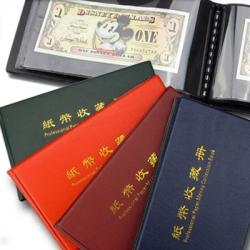 Карманный альбом для 40 банкнот (черные листы) фото