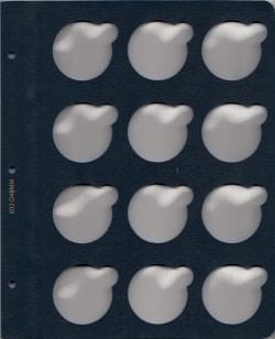 Лист для монет в капсулах диаметром 40 мм (синий) фото