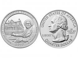 Монета 25 центов 2017 год Национальное историческое место Фредерика Дугласа - округ Колумбия, UNC фото