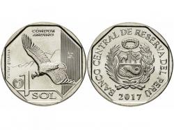 Монета 1 соль 2017 год Андский кондор, UNC фото