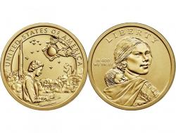 Монета 1 доллар 2019 год Космическая Программа, UNC фото