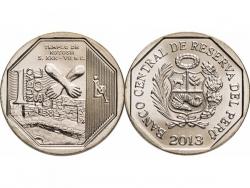 Монета 1 соль 2013 год Котошский храм, UNC фото