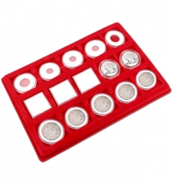 Лоток-дисплей для 15 монет фото